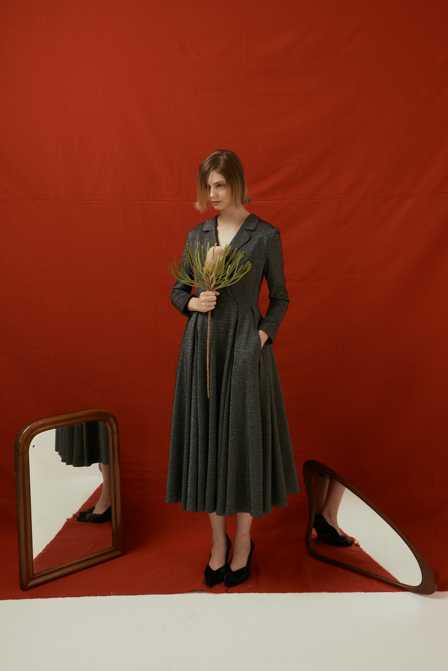 大裙襬長禮服洋裝